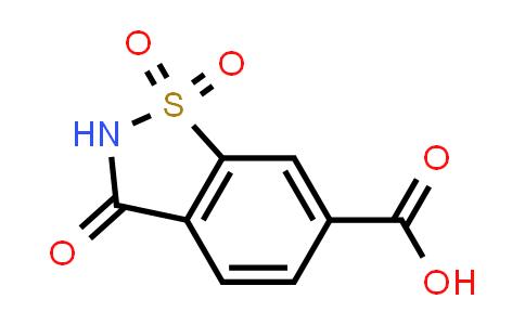 1250997-56-8 | 3-OXO-2,3-DIHYDRO-1,2-BENZISOTHIAZOLE-6-CARBOXYLIC ACID 1,1-DIOXIDE