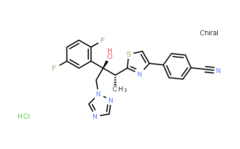 1121545-23-0 | 4-[2-[(1R,2R)-2-(2,5-Difluorophenyl)-2-hydroxy-1-methyl-3-(1H-1,2,4-triazol-1-yl)propyl]-4-thiazolyl]benzonitrile hydrochloride (1:1)