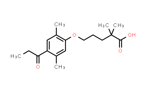 1315604-11-5 | 5-(2,5-dimethyl-4-propanoylphenoxy)-2,2-dimethylpentanoic acid