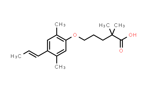 500904-61-0 | 5-[2,5-dimethyl-4-(prop-1-en-1-yl)phenoxy]-2,2-dimethylpentanoic acid