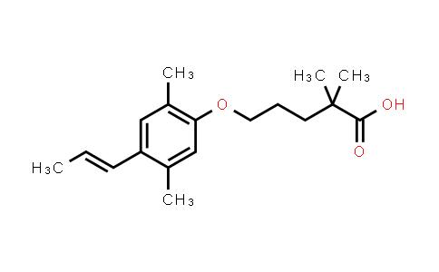 1315604-10-4 | 5-{2,5-dimethyl-4-[(1E)-prop-1-en-1-yl]phenoxy}-2,2-dimethylpentanoic acid