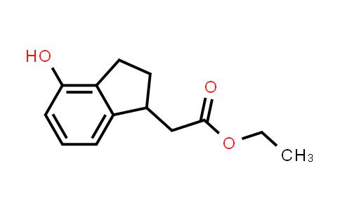 105806-56-2 | ethyl 2-(4-hydroxy-2,3-dihydro-1H-inden-1-yl)acetate
