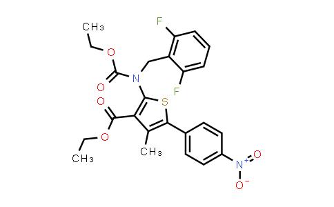 308831-94-9 | ethyl 2-((2,6-difluorobenzyl)(ethoxycarbonyl)amino)-4-methyl-5-(4-nitrophenyl)thiophene-3-carboxylate