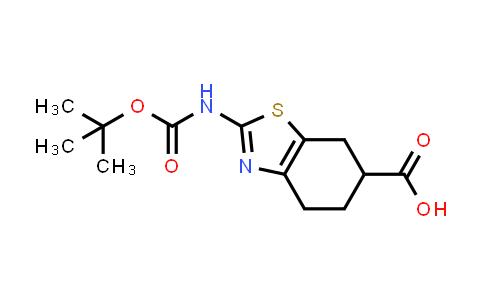 1820683-35-9   2-((tert-butoxycarbonyl)amino)-4,5,6,7-tetrahydrobenzo[d]thiazole-6-carboxylic acid