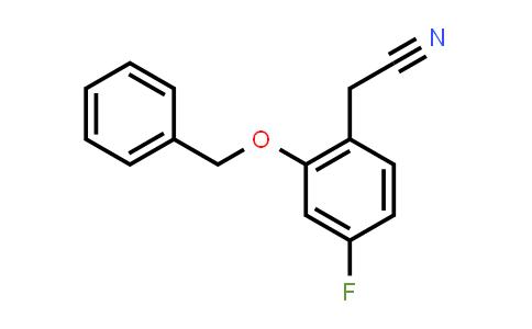 1824265-83-9 | 2-(2-(benzyloxy)-4-fluorophenyl)acetonitrile