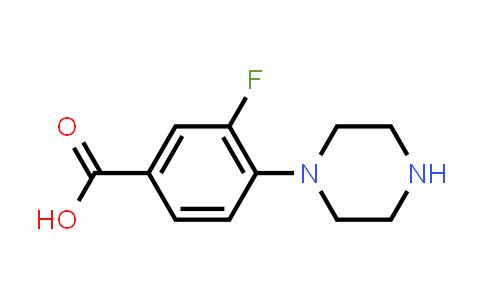 1197193-04-6 | 3-Fluoro-4-piperazinobenzoic Acid