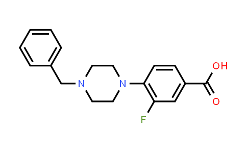 1346597-48-5   4-(4-Benzyl-1-piperazinyl)-3-fluorobenzoic Acid