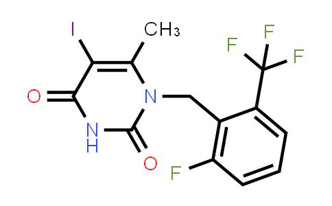 1150560-54-5 | 1-(2-Fluoro-6-trifluoromethyl-benzyl)-5-iodo-6-methyl-1H-pyrimidine-2,4-dione
