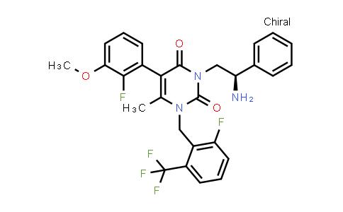 830346-50-4 | 3-[(2R)-2-Amino-2-phenylethyl]-5-(2-fluoro-3-methoxyphenyl)-1-[[2-fluoro-6-(trifluoromethyl)phenyl]methyl]-6-methyl-2,4(1H,3H)-pyrimidinedione