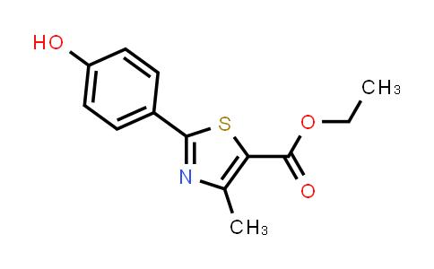 161797-99-5   Ethyl 2-(4-hydroxyphenyl)-4-methylthiazole-5-carboxylate