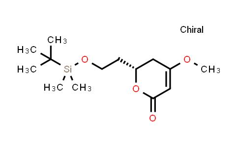 (R)-6-(2-((tert-butyldimethylsilyl)oxy)ethyl)-4-methoxy-5,6-dihydro-2H-pyran-2-one