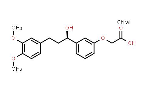 215169-00-9 | (R)-2-(3-(3-(3,4-dimethoxyphenyl)-1-hydroxypropyl)phenoxy)acetic acid