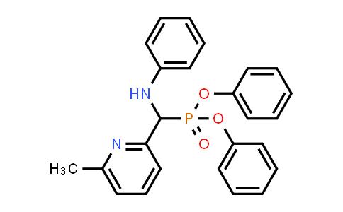 614750-85-5 | Phosphonic acid, P-[(6-Methyl-2-pyridinyl)(phenylaMino)Methyl]-, diphenyl ester