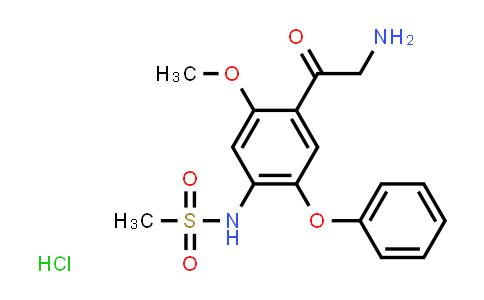 149436-41-9 | N-(4-(2-aminoacetyl)-5-methoxy-2-phenoxyphenyl)methanesulfonamide hydrochloride