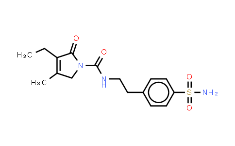 119018-29-0 | 4-[2-[(3-Ethyl-4-methyl-2-oxo-3-pyrrolin-1-yl)carboxamido]ethyl]benzenesulfonamide