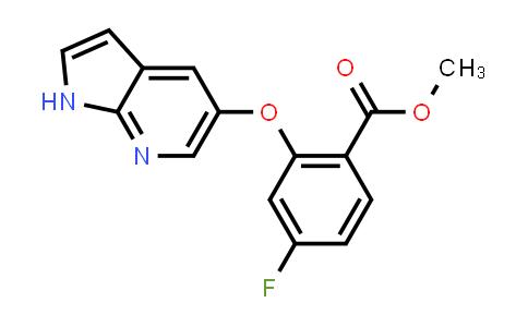 1235865-75-4 | Methyl 2-[(1H-pyrrolo[2,3-b]pyridin-5-yl)oxy]-4-fluorobenzoate