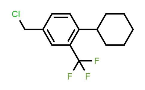 957205-24-2 | 4-Chloromethyl-1-cyclohexyl-2-(trifluoromethyl)benzene
