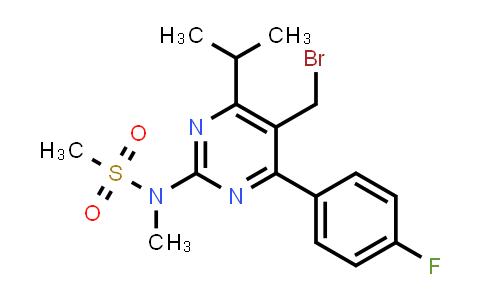 799842-07-2   5-(Bromomethyl)-4-(4-fluorophenyl)-6-isopropyl-2-[methyl(methylsulfonyl)amino]pyrimidine