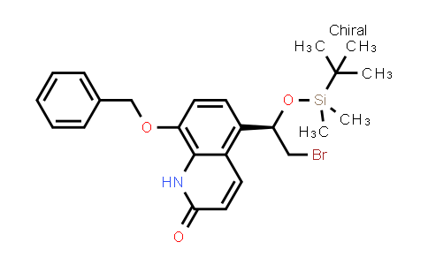 DY460847 | 530084-74-3 | 8-(benzyloxy)-5-[(1R)-2-bromo-1-{[tert-butyl(dimethyl)silyl]oxy}ethyl]quinolin-2(1H)-one