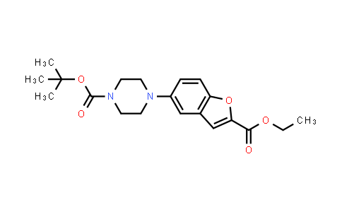 DY460946 | 183288-43-9 | 4-(2-(ethoxycarbonyl)-5-benzofuranyl)-1-piperazinecarboxylic acid tert-butyl ester
