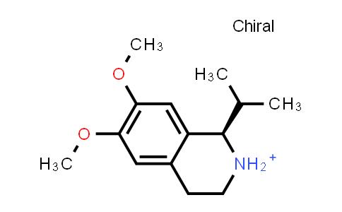 DY461141 | 214046-76-1 | (1R)-6,7-dimethoxy-1-(1-methylethyl)-1,2,3,4-tetrahydroisoquinolinium