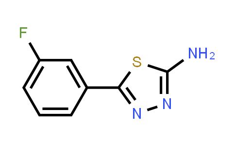 59565-52-5 | 5-(3-Fluorophenyl)-1,3,4-thiadiazol-2-amine