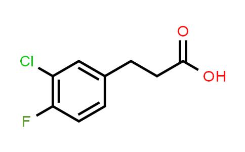 881190-93-8 | Benzenepropanoicacid, 3-chloro-4-fluoro-