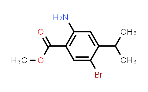 1000018-13-2 | Methyl 2-amino-5-bromo-4-isopropylbenzoate