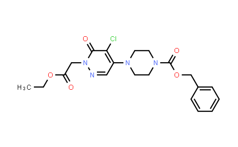 1000018-18-7 | 1(6H)-Pyridazineacetic acid, 5-chloro-6-oxo-4-[4-[(phenylmethoxy)carbonyl]-1-piperazinyl]-, ethyl ester