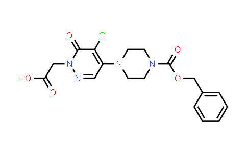 1000018-20-1 | 1(6H)-Pyridazineacetic acid, 5-chloro-6-oxo-4-[4-[(phenylmethoxy)carbonyl]-1-piperazinyl]-