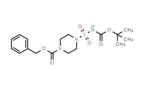 1000018-21-2 | 1-Piperazinecarboxylic acid, 4-[[[(1,1-dimethylethoxy)carbonyl]amino]sulfonyl]-, phenylmethyl ester