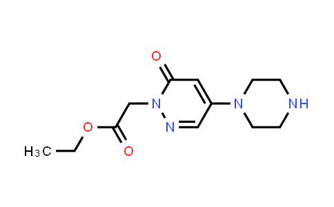 1000018-24-5 | 1(6H)-Pyridazineacetic acid, 6-oxo-4-(1-piperazinyl)-, ethyl ester