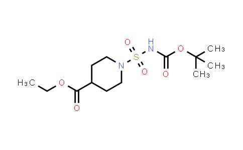 1000018-25-6 | 4-Piperidinecarboxylic acid, 1-[[[(1,1-dimethylethoxy)carbonyl]amino]sulfonyl]-, ethyl ester