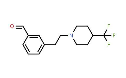 1000339-89-8 | Benzaldehyde, 3-[2-[4-(trifluoromethyl)-1-piperidinyl]ethyl]-
