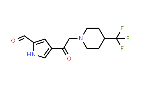 1000339-90-1 | 1H-Pyrrole-2-carboxaldehyde, 4-[2-[4-(trifluoromethyl)-1-piperidinyl]acetyl]-