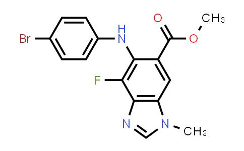 1000340-06-6 | Methyl 5-(4-bromophenylamino)-4-fluoro-1-methyl-1H-benzo[d]imidazole-6-carboxylate