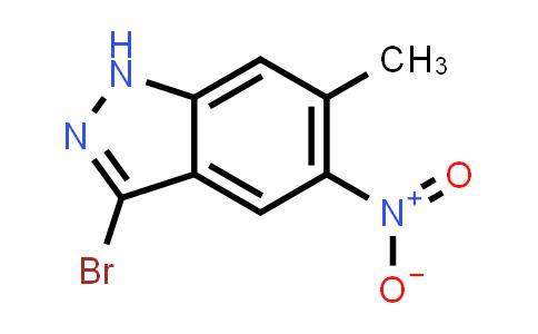 1000343-58-7 | 1H-Indazole, 3-bromo-6-methyl-5-nitro-