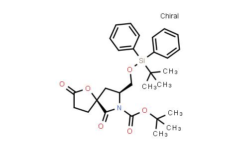 1000358-59-7 | 1-Oxa-7-azaspiro[4.4]nonane-7-carboxylic acid, 8-[[[(1,1-dimethylethyl)diphenylsilyl]oxy]methyl]-2,6-dioxo-, 1,1-dimethylethyl ester, (5S,8S)-