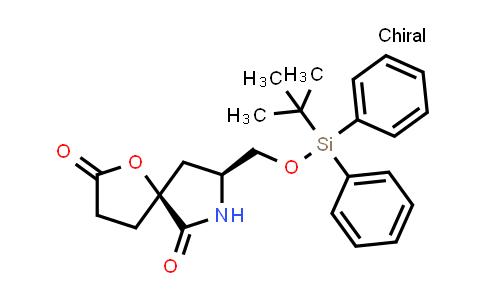 1000358-60-0 | 1-Oxa-7-azaspiro[4.4]nonane-2,6-dione, 8-[[[(1,1-dimethylethyl)diphenylsilyl]oxy]methyl]-, (5S,8S)-