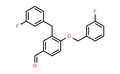 1000370-24-0 | 3-(3-Fluorobenzyl)-4-((3-fluorobenzyl)oxy)benzaldehyde
