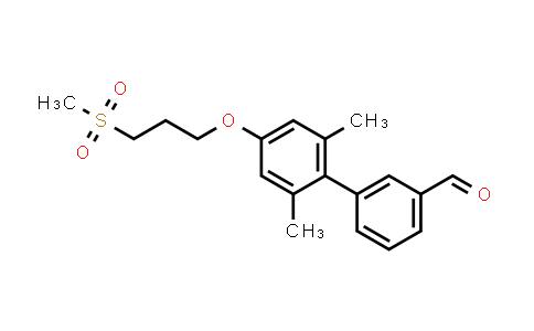 1000413-84-2 | 2',6'-Dimethyl-4'-(3-(methylsulfonyl)propoxy)biphenyl-3-carbaldehyde