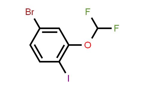 1000575-32-5 | 4-Bromo-2-(difluoromethoxy)-1-iodobenzene