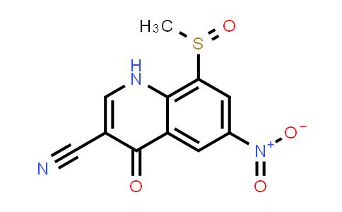 1000676-72-1 | 3-Quinolinecarbonitrile, 1,4-dihydro-8-(methylsulfinyl)-6-nitro-4-oxo-