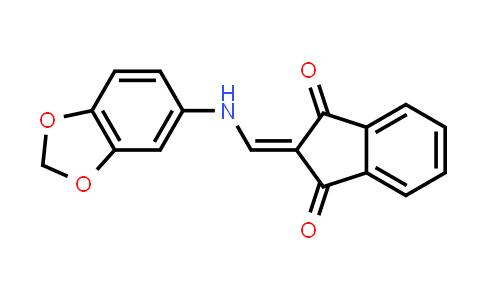 1001048-70-9   1H-Indene-1,3(2H)-dione, 2-[(1,3-benzodioxol-5-ylamino)methylene]-