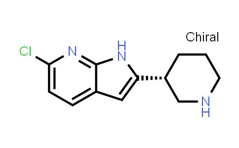 1001069-44-8   1H-Pyrrolo[2,3-b]pyridine, 6-chloro-2-[(3R)-3-piperidinyl]-