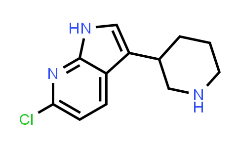 1001069-45-9 | 1H-Pyrrolo[2,3-b]pyridine, 6-chloro-3-(3-piperidinyl)-