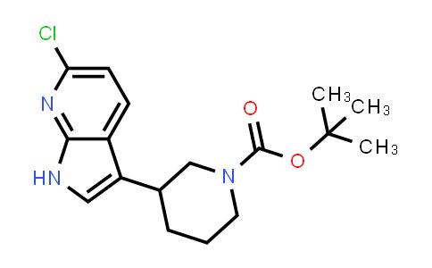 1001070-10-5 | 1-Piperidinecarboxylic acid, 3-(6-chloro-1H-pyrrolo[2,3-b]pyridin-3-yl)-, 1,1-dimethylethyl ester