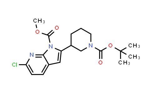 1001070-16-1 | 1H-Pyrrolo[2,3-b]pyridine-1-carboxylic acid, 6-chloro-2-[1-[(1,1-dimethylethoxy)carbonyl]-3-piperidinyl]-, methyl ester