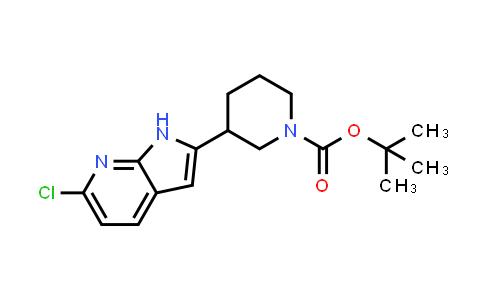 1001070-18-3 | 1-Piperidinecarboxylic acid, 3-(6-chloro-1H-pyrrolo[2,3-b]pyridin-2-yl)-, 1,1-dimethylethyl ester