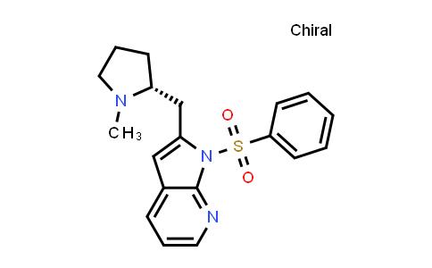 1001070-21-8 | 1H-Pyrrolo[2,3-b]pyridine, 2-[[(2R)-1-methyl-2-pyrrolidinyl]methyl]-1-(phenylsulfonyl)-
